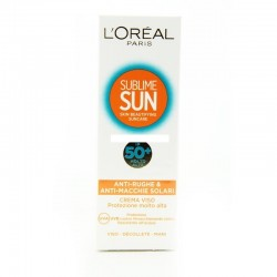 L'Oreal Paris Sublime Sun Anti Rughe e Macchie Solari ip 50+ molto alta 75ml