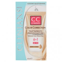 CLINIANS CC CREAM COLOR CORRECTION TRATTAMENTO PERFEZIONATORE MEDIO/SCURE 40ml