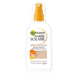 GARNIER AMBRE SOLAIRE IDEAL BRONZE Spray Protettivo SPF30 200ML
