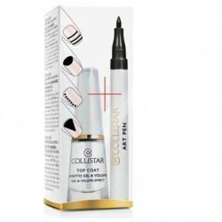 Collistar Top Coat Effetto Gel & Volume + art pen decorazione unghie Nero