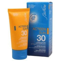 Bionike Acteen Sun 30 Crema solare pelle grassa 50ml