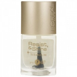 L'Oreal Resist & Shine Titanium Nail Polish - 001 Clear