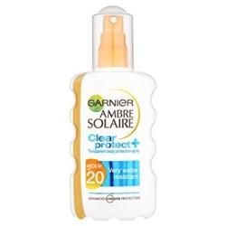 Garnier Ambre Solaire Clear Protect + Spray Protettivo Trasparente IP 30 200 ml