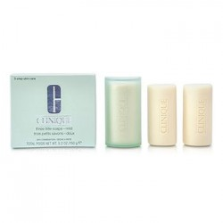 Clinique 3 Little Soaps with Travel Dish Mild Skin 150GR
