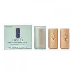 Clinique 3 Little Soaps with Travel Dish Oily Skin 150GR