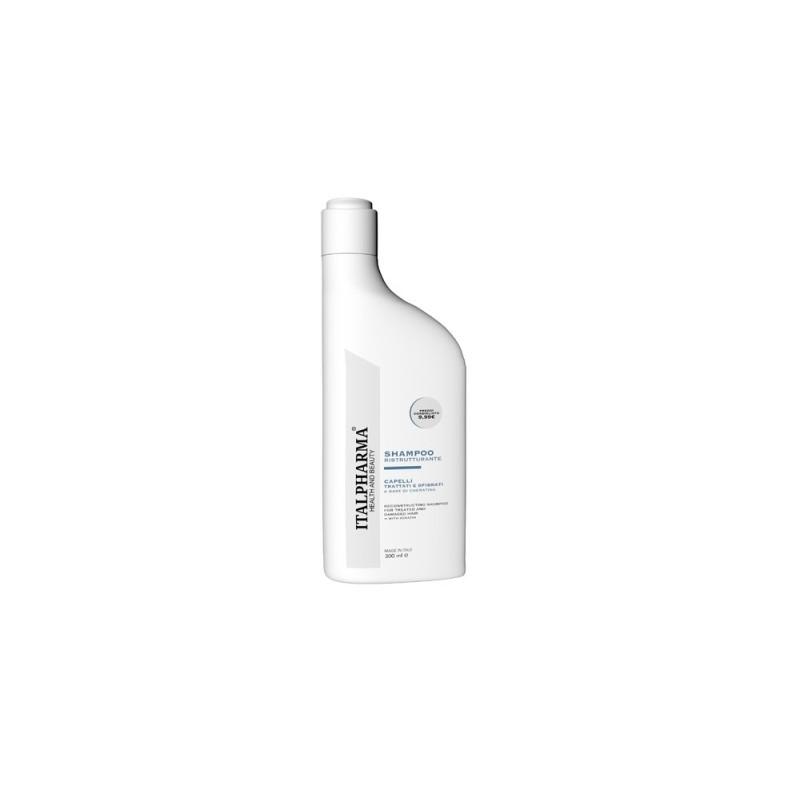 ITALPHARMA Shampoo Ristrutturante con Cheratina per capelli trattati e sfibrati 300ml