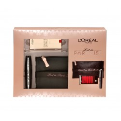 L'oréal Paris Lost in Paradise set make up mascara Mega Volume e palette labbra rouge