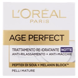 l'oreal AGE PERFECT TRATTAMENTO RE-IDRATANTE NOTTE - ANTI RILASSAMENTO + ANTI-MACCHIE 50ml