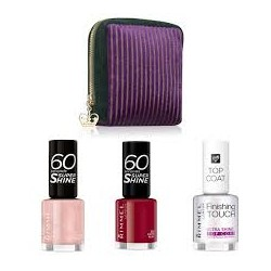 Rimmel kit manicure perfetta: pochette smalti 60 secondi
