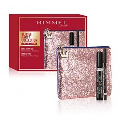 Rimmel Glitter Party Collection Pochette Mascara Volume Modulabile Extra Super Lash e Matita Occhi