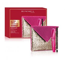 pochette rimmel glitter party collection wonderfully mascara + matita nera