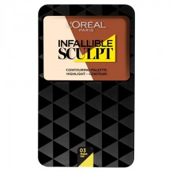 L'Oréal Infallible Sculpt Palette Contouring 03 Medium/Dark