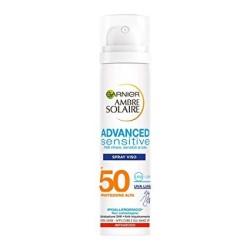 Garnier Ambre Solaire Crema Solare Viso in Spray Advanced Sensitive Protezione Solare Alta IP 50 75ml
