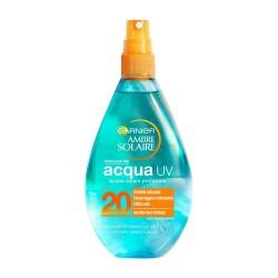Garnier Ambre Solaire Spray Protezione Solare Acqua Solare Protettiva UV Arricchita con Aloe Vera IP20, 150 ml