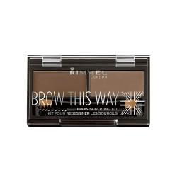 rimmel eyebrow kit palette 002 medium brown