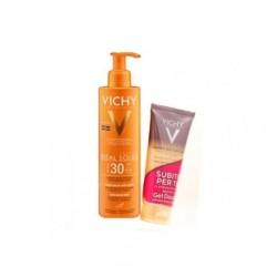 Vichy Ideal Soleil Fluido Antisabbia SPF 30 200ml + Gel Doccia In Omaggio 100ml