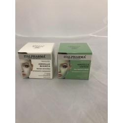 Italpharma maschera viso con argilla bianca 50ml