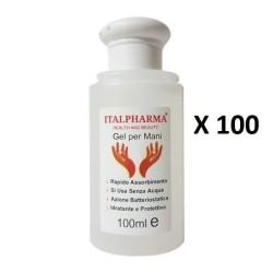 Italpharma gel igienizzante mani antibatterico 100ml[50 PEZZI]