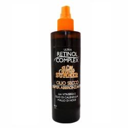Retinol Complex - Olio secco superabbronzante con vitamina E olio di calendula e mallo di noce 200ml