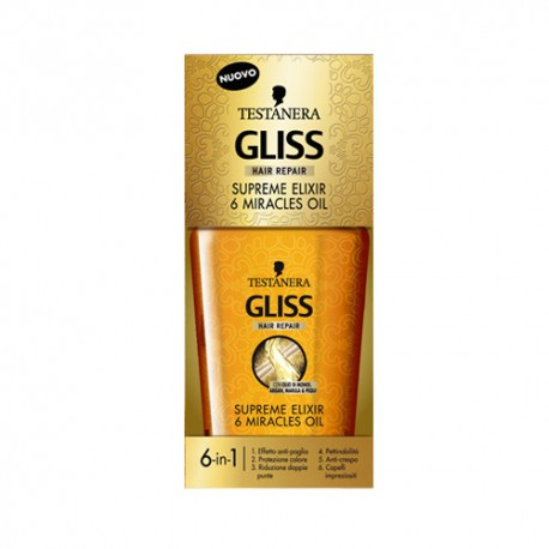 Testanera Gliss Supreme Elixir 6 Miracles Oil Olio 75 ml
