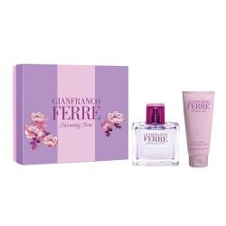 cofanetto gianfranco ferrè blooming rose edt 50ml + crema corpo 100ml